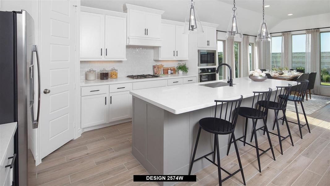 Design 2574W Kitchen